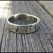 Sterling Silver oxidized STAR ring