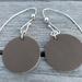 925S Leather & STG drop earrings