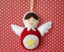 Babushka Christmas Angel decoration