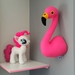 Flamingo head sewing pattern. Faux taxidermy. Pdf pattern. Pink felt. Trophy head. Animal, bird, interior decor. Wall bust. Kids room decor