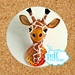 Faux taxidermy pattern. Giraffe head. Gladys the Giraffe pdf sewing pattern. Felt safari creature.
