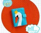 Felt needle book pattern. Swan needle case. Sewing accessory. Easy, beginners .