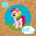 My Little Pony cross stitch pattern. Pdf horse x-stitch. Rainbow mane. Pink pony. Girls room decor.
