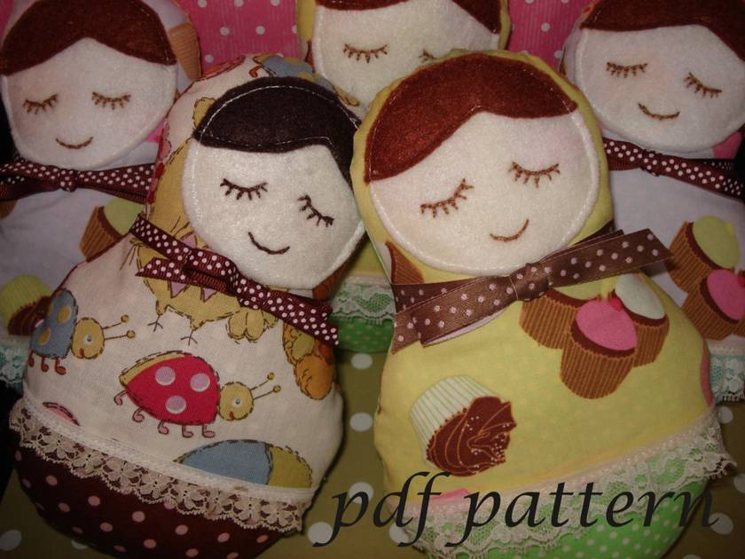 Babushka Softie Doll sewing pdf pattern