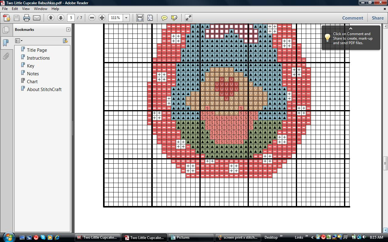 Two little cupcake babushkas cross stitch pdf pattern felt previous geenschuldenfo Images