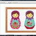 Two Little Cupcake Babushkas cross stitch pdf pattern