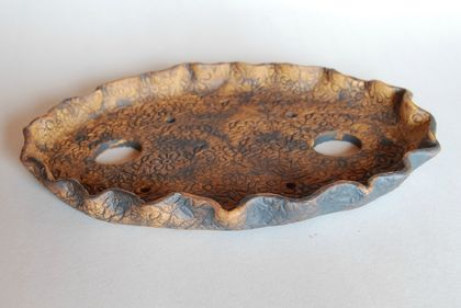 Oval slab bonsai pot 22 x 16 x 2.5 (cm)