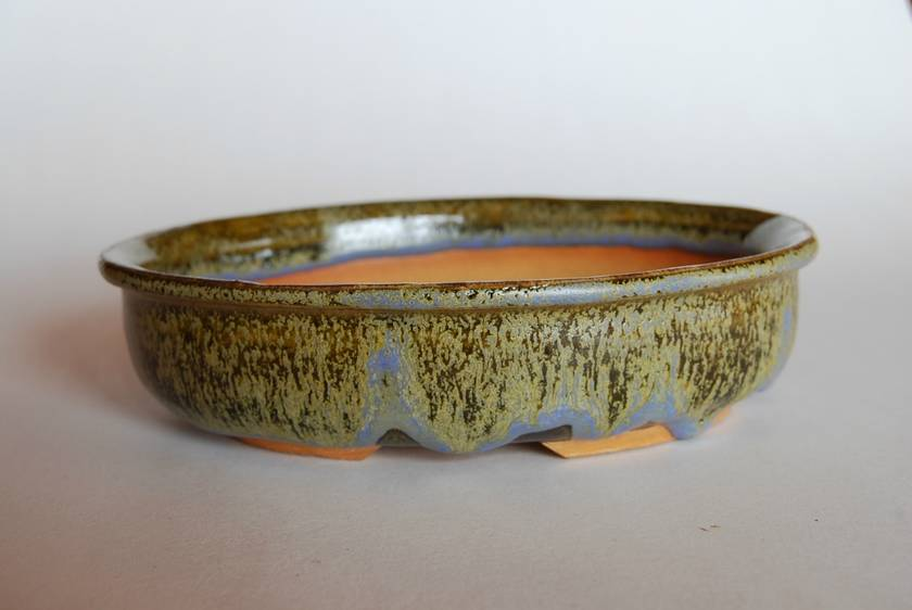 Bonsai Pot - Oval 17.5 x 15.0 x 4.5 (cm)