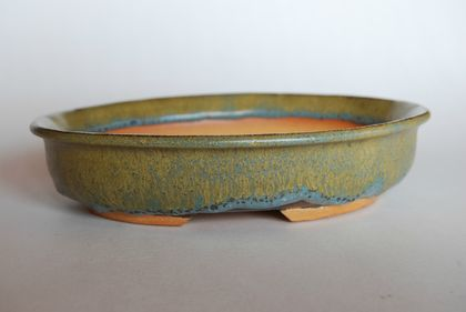 Bonsai Pot -Oval 18.3 x 15.2 x 4.2 (cm)