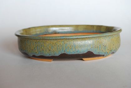 Bonsai Pot -Oval 16.5 x 13.4 x 3.9  (cm)