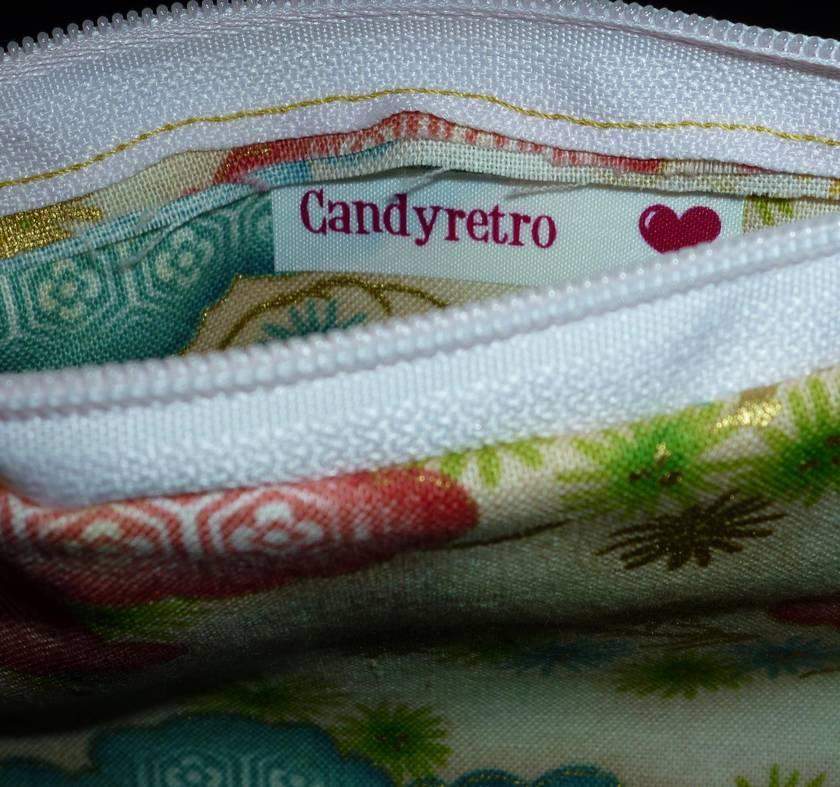 Candyretro zip purse - Turkish Delight