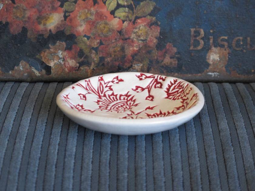 Mudbird Ceramic Red Thistle Dish