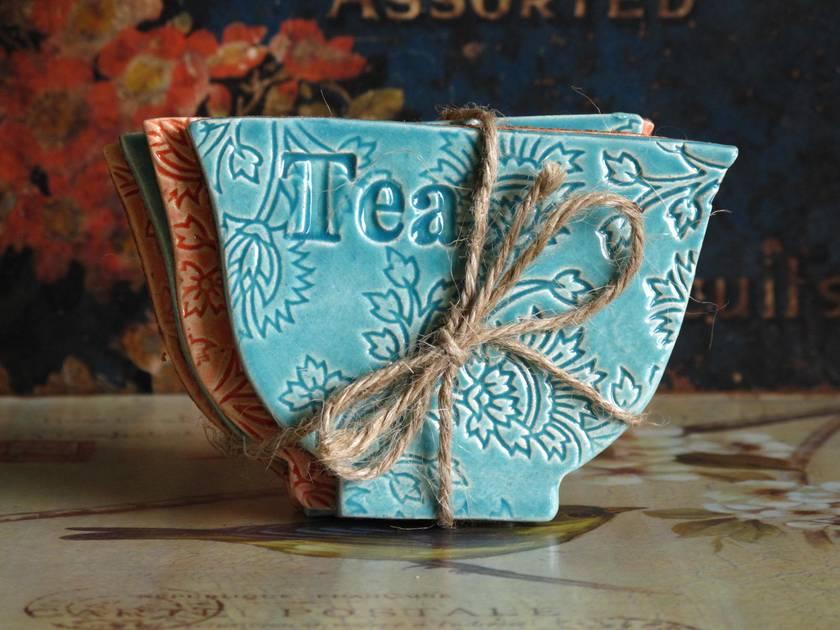 Mudbird Ceramic Coaster Set (4) One Off!