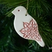 Mudbird Christmas ornament - Poinsettia