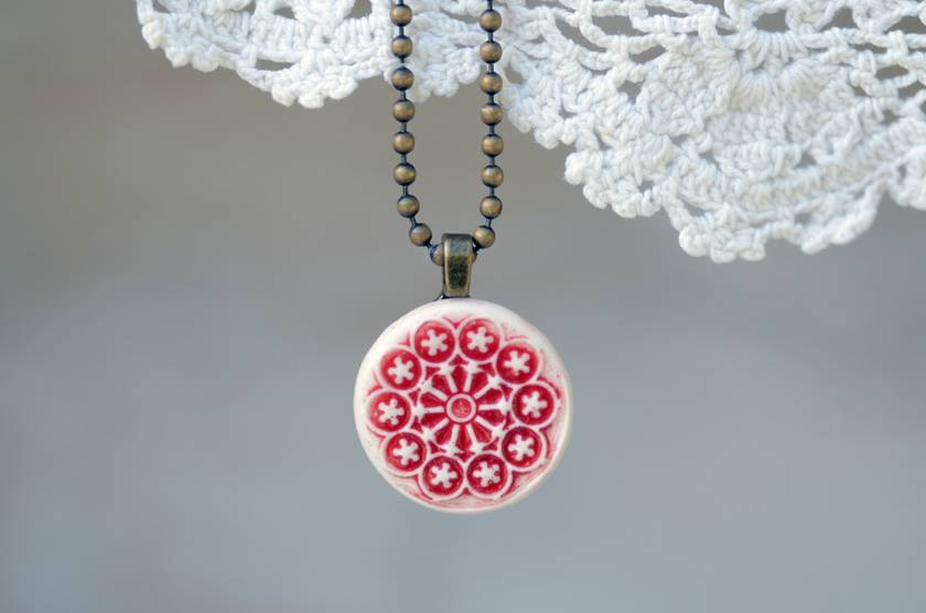 Rose Window Necklace - Earthquake Commemorative Jewellery