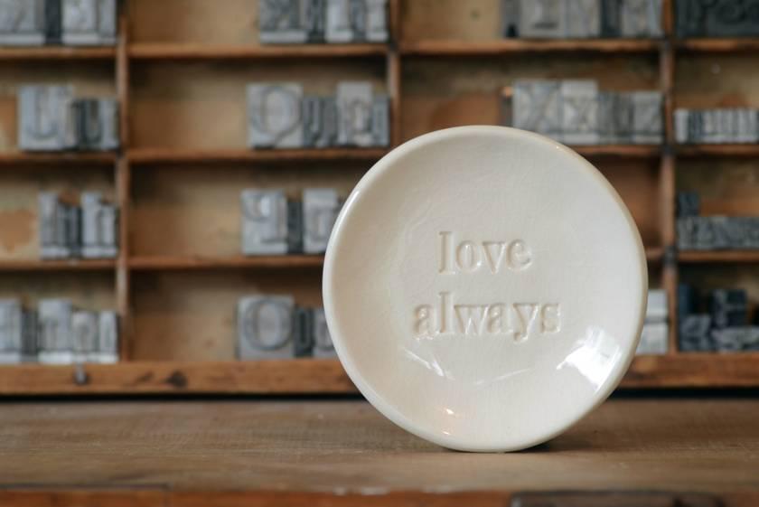 ' Love Always'  bespoke dish