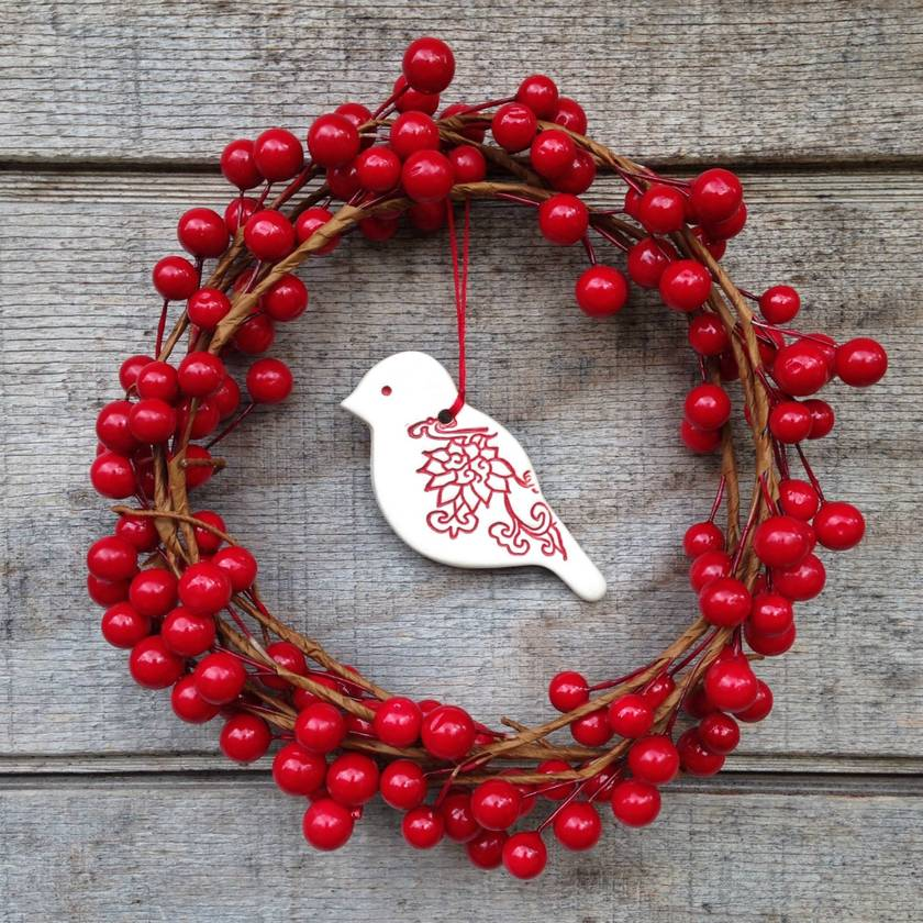 Mudbird Little Bird Christmas ornament - Fleur