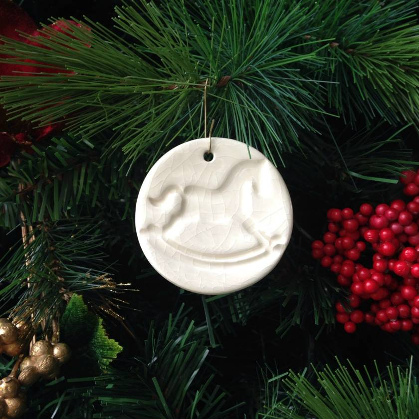 Mudbird Rocking Horse Christmas ornament