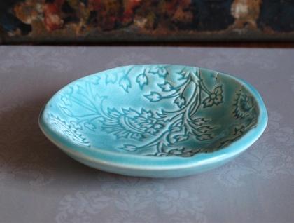 Mudbird Turquoise Thistle Dish