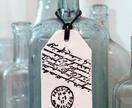 Ceramic Gift Tag - Script, Black