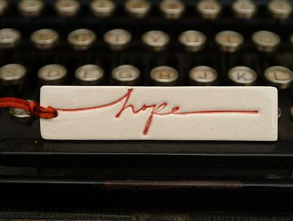 Ceramic Gift Tag - HOPE
