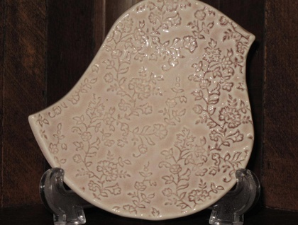 Ceramic Mudbird Dish - Antique Rose