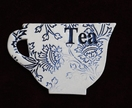 Ceramic 'Teacup' Coaster / Blue Thistle