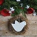 Mudbird Ceramic Dove Ornament