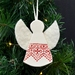 AROHA ~ Mudbird & Wild Felt Christmas Angel Ornament.