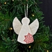 NOELLE ~ Mudbird & Wild Felt Christmas Angel Ornament.