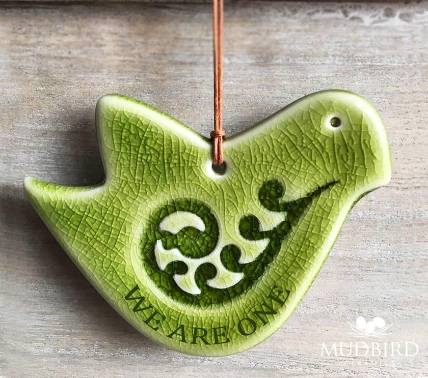 WE ARE ONE - Ceramic Peace Dove