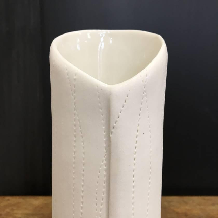 Porcelain stitch vase