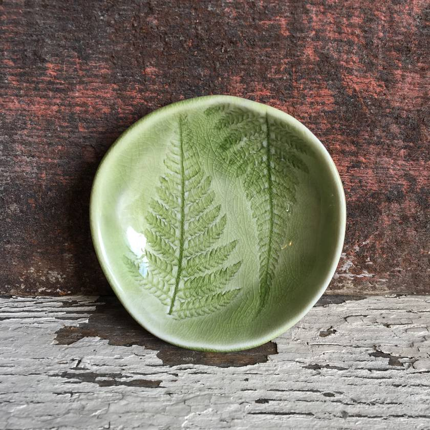 Ceramic Fern Dish