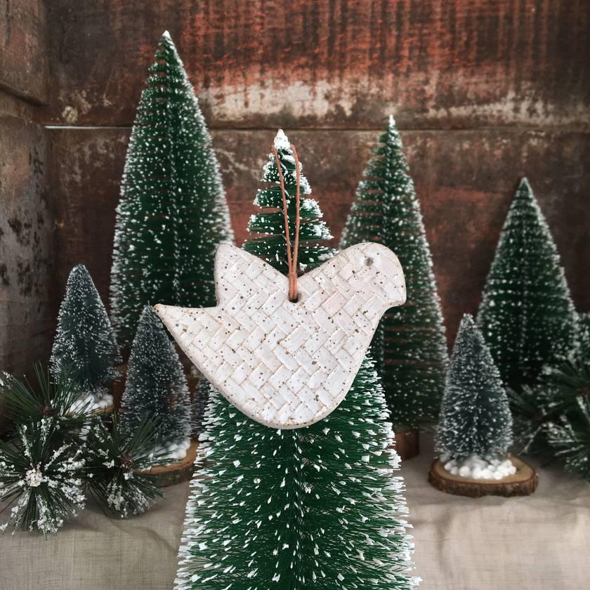 Mudbird Kete Dove Ornament