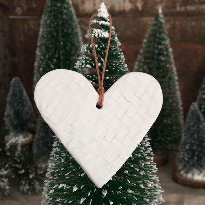 Mudbird Porcelain Hearts x 3 - Ornament