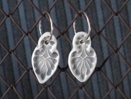 Ceramic Glazed Earrings - Far East Grey
