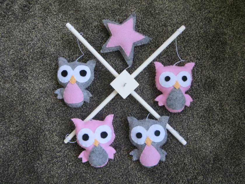 Gorgeous Owl Mobile -  in your choice of colours