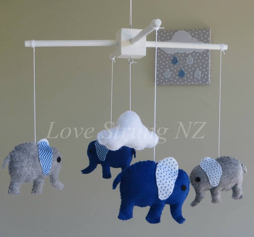 Lovely  Elephant Mobile - your choice of colours