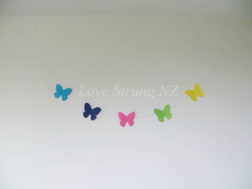 Gorgeous Felt Butterfly Garland