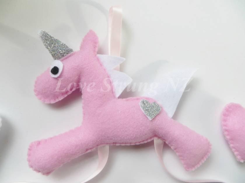 Unicorn Headband and Hairclip Holder