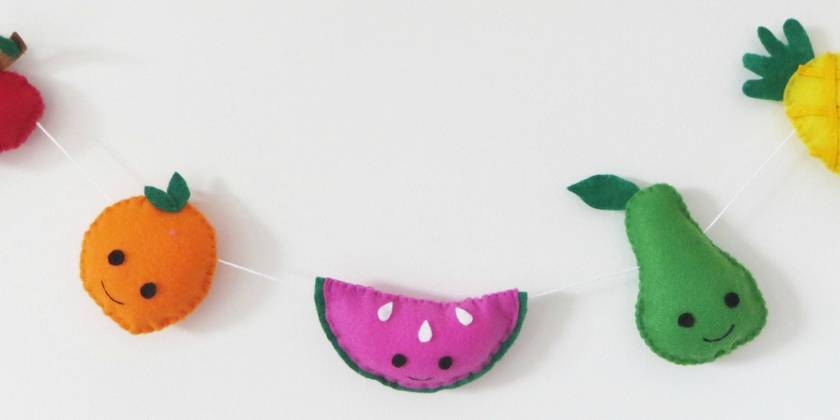 Fruit Garland with Faces