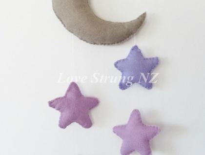 Blush moon and star wall hanging