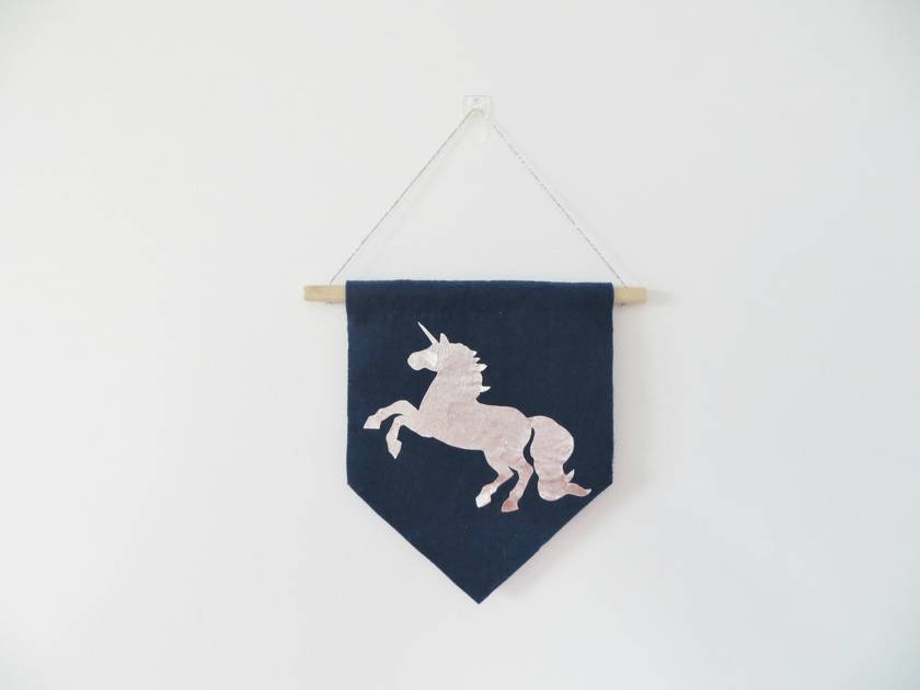 Unicorn Siloutte Wall Flag/Banner