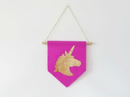 Unicorn Head Wall Flag/Banner