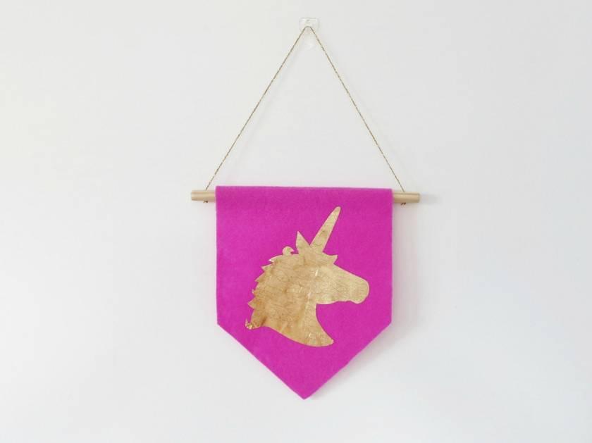 Unicorn Head Wall Flag/Banner