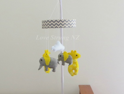 Elephant and Giraffe Mobile