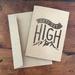 LETS GET HIGH A6 kraft greeting card