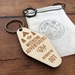 birch ply wooden laser etched adventurers club key fob, keychain