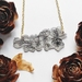 Cherry Blossom Necklace - Floral Branch - Cascading Blossom