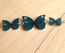 Turquoise and green butterfly silver butterfly bracelet